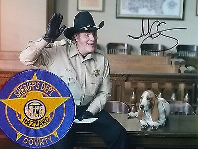 M.C. Gainey autograph photo of Roscoe P Coltrane with patch & COA