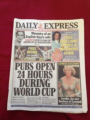 Daily Express 13/04/2002 Camilla the new Duchess of Cornwall Whole paper
