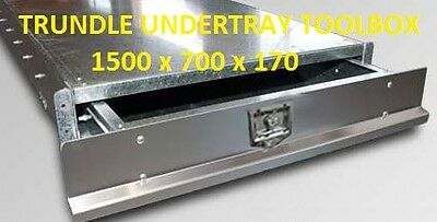 UTE Under Tray Tool Box Trundle Drawer 1500mm Roller Draw