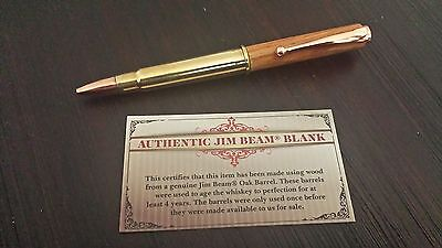 Jim Beam 303 Bullet Pen made with wood from Jim Beam Barrel