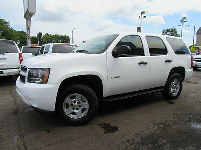 2008 Chevrolet Tahoe  White 4X4 LS Only 7k Miles Tow Pkg Ex Fed Govt Admin Well Maintained