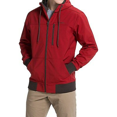 Simms Rogue Soft Shell Fishing Fleece Jacket Hoodie Hooded Sweatshirt - Red NEW!