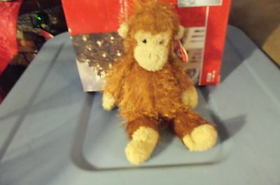 Zig Zag The Monkey  Ty Punkies  Retired New 9 Inches