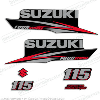 Suzuki 115hp FourStroke 2010-2013 Outboard Engine Decal Kit DF115 Replacement