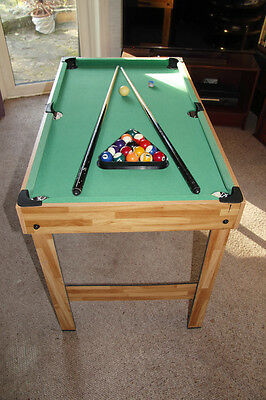 Pool table and bar football table 4 games in one