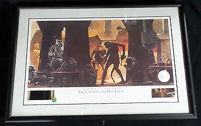 The Cantina on Mos Eisley STAR WARS Ralph McQuarrie limited signed Lithograph