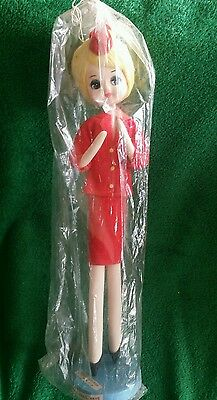 """Vintage Continental trailways doll """"your hostess"""" bus souvineer doll"""