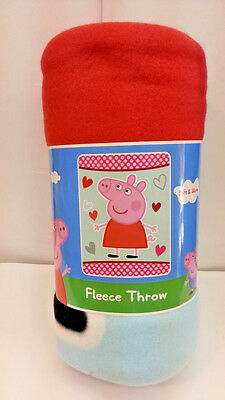 "Peppa Pig Soft And Warm 45""x60"" Fleece Throw Blanket For Kid 100% Original"