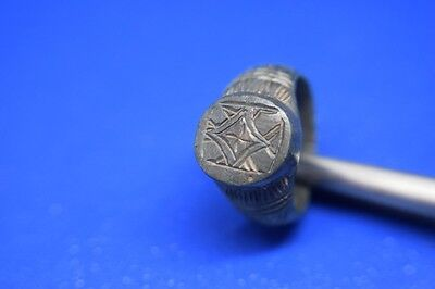 21 Roman billon ring with decorations Extremly fine artefact !!!!!!