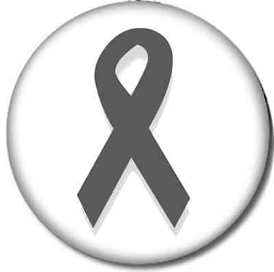 Gray Asthma Awareness Ribbon Iron On Patch 3x1.25 inch inches Free Ship P3775