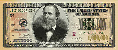 Want to be a Millionaire? Million Dollar bill x 9