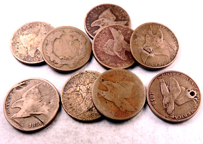 (1) Random 1857/1858 Flying Eagle Penny // Partial Date // 1 Coin