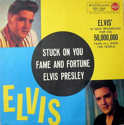 """Elvis Presley  Fame And Fortune   7""""  Italy 1960  Rca  45N 1045"""