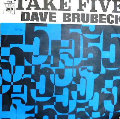 "Rare Dave Brubeck Quartet  7"" Take Five Italy 1967 Jazz"