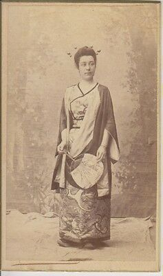 CDV:  French Woman in Asian (Chinese, Japanese) Attire
