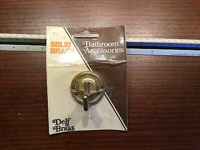 Vintage solid brass bathroom accessories delf brass Hook NOS