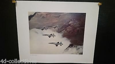 Vintage poster print Northrop Norair F-5A Tactical Fighters in Flight