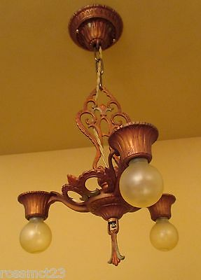 Vintage Lighting 1930s Virden bedroom/foyer chandelier