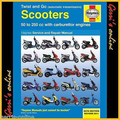 4082 Haynes Peugeot Twist & Go (automatic transmission) Scooters Service Manual