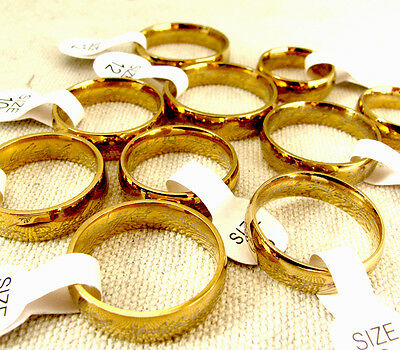 Lot 10 pcs Rings Hobbit Ring LOTR Stainless Steel Women & Mens Lord of the Ring