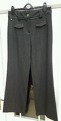 Ladies Women's Marks and Spencer Per Una  grey Trousers size 10 reg bnwot