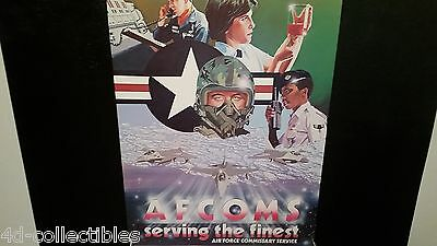 Vintage poster AFCOMS Serving the Finest Air Force Commissary Service print