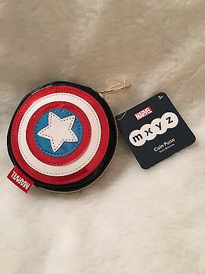 Disney Store MXYZ Captain America Shield Coin Purse Marvel New with Tag!