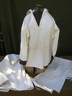 Wwi Navy Uniform Grouping Two White Jumpers And Pants Named