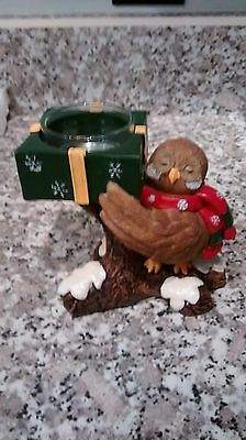 Yankee Candle Christmas Owl Tealight Holder,New