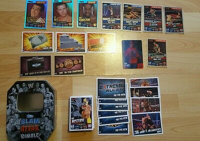 Topps Slam Attax rumble tin and 75 cards