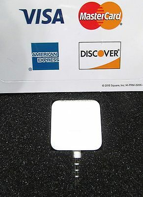 Square Reader Credit Card Apple Android w/Visa Mastercard Amex Discover Stickers