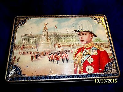 1936 Hrh King Edward Viii Accession To The British Throne Tea Or Biscuit Tin