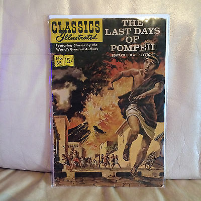 Classics Illustrated No. 35 The Last Days Of Pompeii March 1947