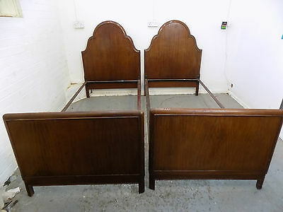 """mahogany,single,beds,6'3"""" x 3',2 single beds,bedroom,pair,two,antique,victorian"""