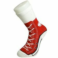 Silly Socks - Kids Sneaker Red Size 1-4  Cheapest On Ebay  * Free Delivery *