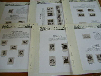 Seven Seas Album Hingeless 6 Pages Only Australia For 3 Ring Binder 1979 Used