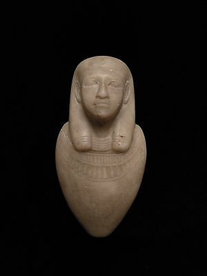 Egyptian Stone Carving funerary piece or jar plug