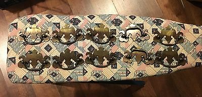 Vintage Drawer Handles Set Of 10 Ornate Iron Metal Kitchen Bath Hardware Pulls