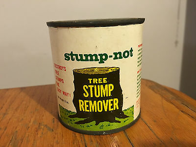"Vtg Gardening Tin Can Collectible ""Tree Stump Remover"""