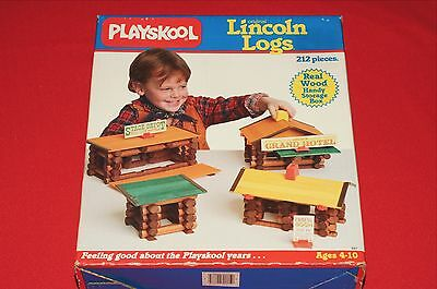 1986 Playskool Lincoln Logs 212 piece Set Brand New Sealed