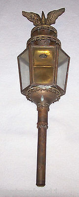 Antique1800's Brass & Cast Iron Carriage / Buggy Candle Lamps Eagle Final Ornate