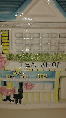 Vintage Collectible Ceramic Cottage House Boutique Tea Shop Cookie Jar