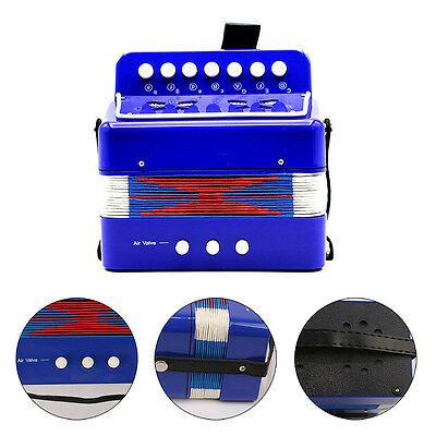 Blue Kid Children Music Instrument Toys Piano Accordion Childs Christmas Gift