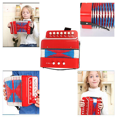 New Kids Instrument Music Accordion Button Toy Great Christmas Gift Children Red