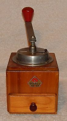 Vintage German Wooden Coffee Grinder Mill Pe De Dienes