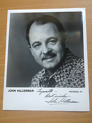 JOHN HILLERMAN (Magnum, P.I.)  Autographed black & white photo