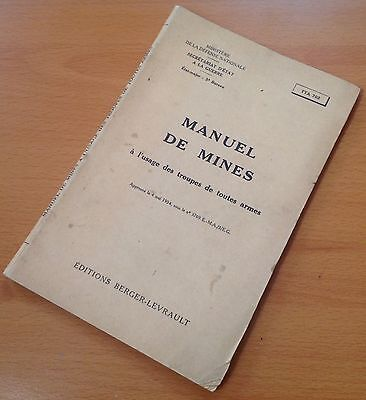 "Original 1954 French Land Mines Training Manual: ""manuel De Mines"""