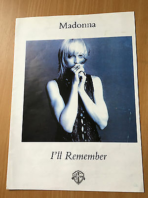 MADONNA - I'll Remember, Sheet Music