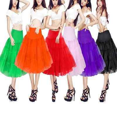 "Hot Fashion Tulle Skirt 20"" knee length Crinoline Petticoat Tutu Dancewear Skirt"