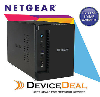 NETGEAR RN21200-100AJS ReadyNAS 2 Bay Diskless NAS - 1.4Ghz Quad-Core, 2GB RAM